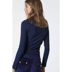 SUGARFREE Ελαστική μακρυμάνικη μπλούζα μπλε σκούρο, 19832113-425