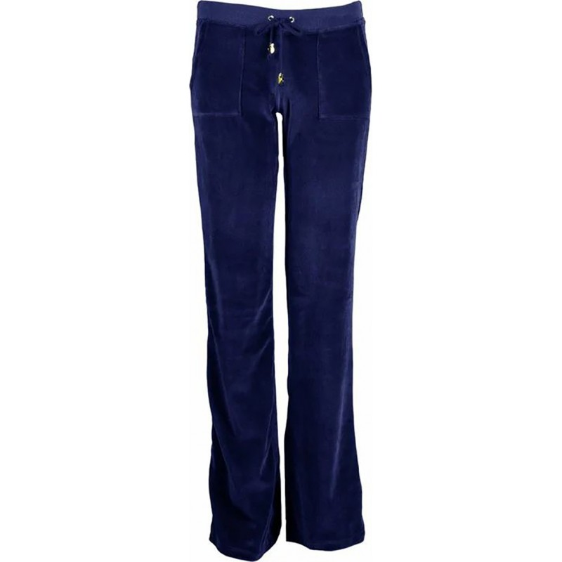Sugarfree Παντελόνι basic βελουτέ μπλε, 19831000-425
