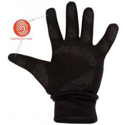 Γυναικεία γάντια μαύρα για οθόνες touchscreen, 74OF-ZWR