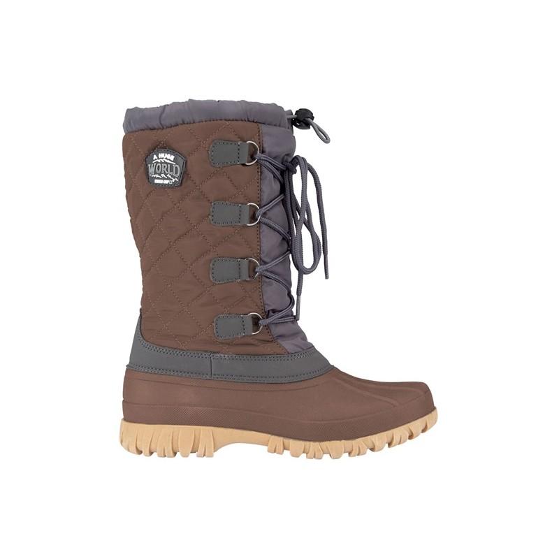 Apre-ski Μπότες καφέ/ανθρακί Winter-grip®, 1127-BRA