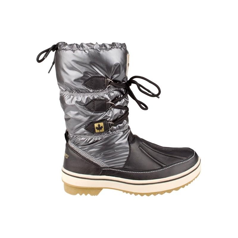 Apre-ski Μπότες ανθρακί/μαύρο Glossed Trotter Avento, 1136-ANB