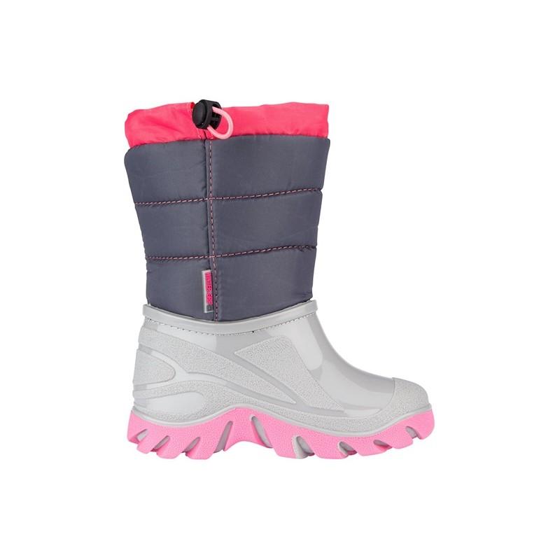 Apre-ski παιδικές μπότες ανθρακί/γκρι/ροζ Welly Walker   Winter-grip®, 1162-AGR