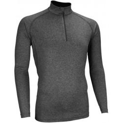 Αθλητική ανδρική μακρυμάνικη μπλούζα ανθρακί Avento, 33MG-ANM