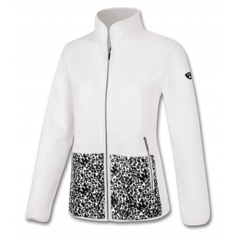 Γυναικεία Ζακέτα fleece λευκή Astrolabio, A98D-010