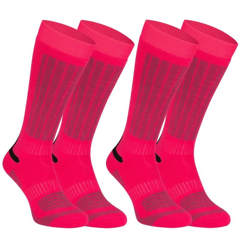 Παιδικές Κάλτσες σκι φούξια (2 ζεύγη), 0248-FUG
