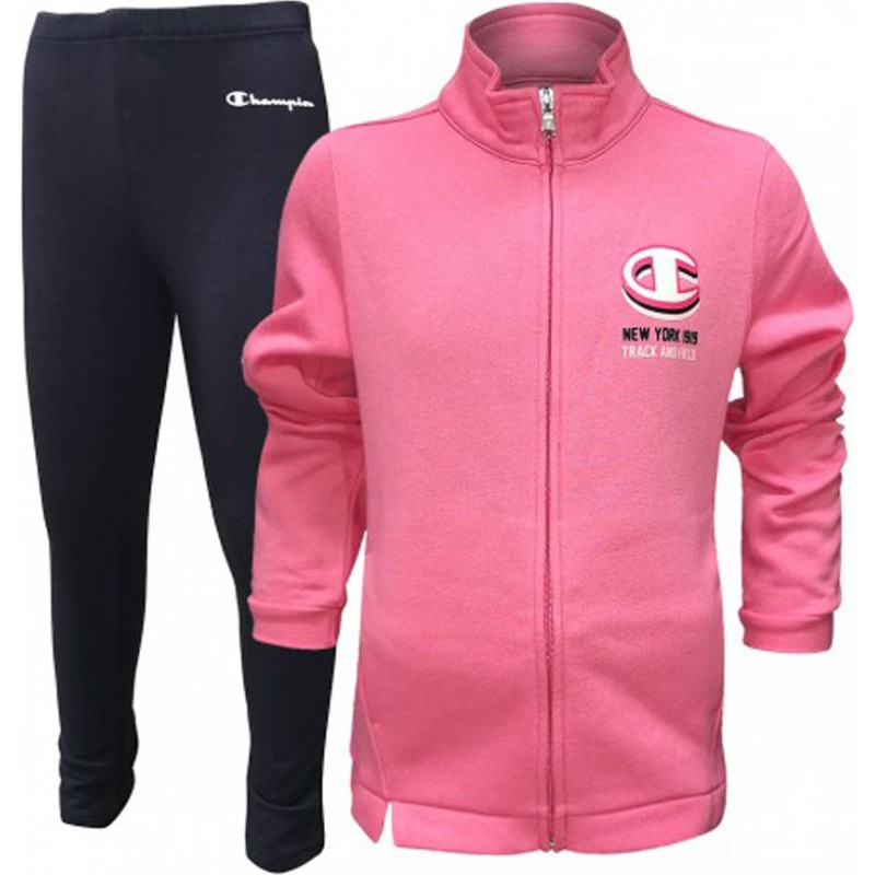 Champion Sweatsuit pink/navy blue, 403491-PS057