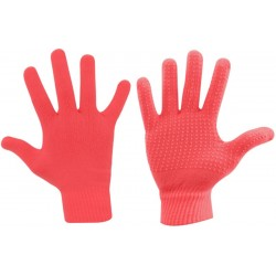 Gloves Knitted Coral Avento