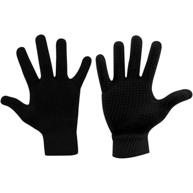 Παιδικά πλεκτά γάντια μαύρα AVENTO, 5074-ZWA