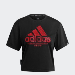 Adidas Women T-Shirt Black/red