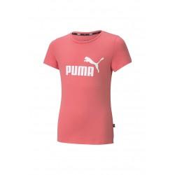 Puma Ess Logo Tee coral