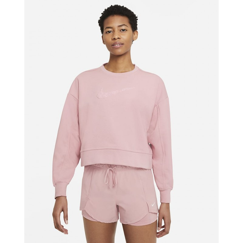 Women's Swoosh Training Crew Nike Dri-FIT Get Fit pink, CU5506-630