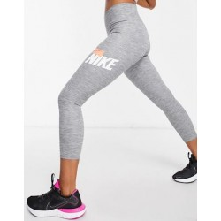 Nike One Cropped Heathered Graphic 7/8 Women Tights grey, DD0830-077