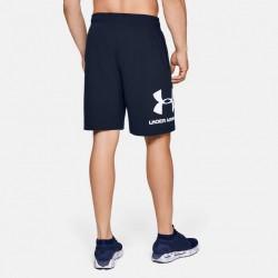 Under Armour Cotton Big Logo Shorts navy blue, 1329300-408
