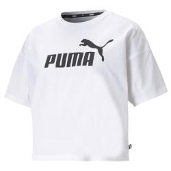 Puma Ess Cropped Logo Tee white 586866-02, 586866-02