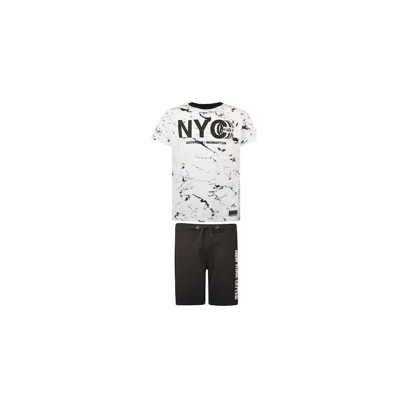 Energiers Σετ Βερμούδα & Μπλούζα 'NYC Vibes' Λευκό, 13-221093-0