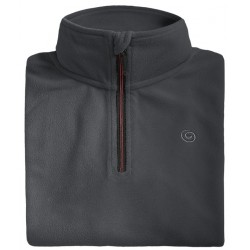 Microfleece zippy man BREKKA grey