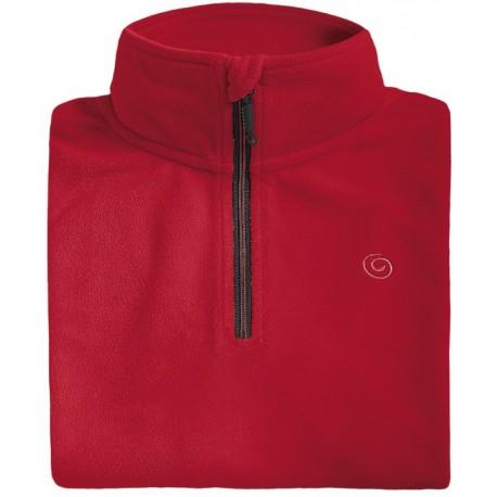 Microfleece zippy man BREKKA red