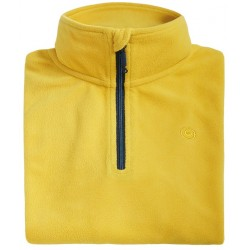 Microfleece zippy man BREKKA yellow