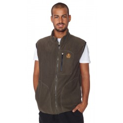 Men vest fleece BERG brown