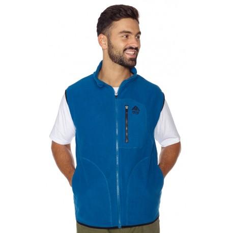 Men vest fleece BERG light blue
