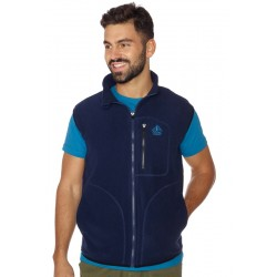 Men vest fleece BERG blue