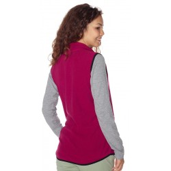Woman vest fleece BERG purple