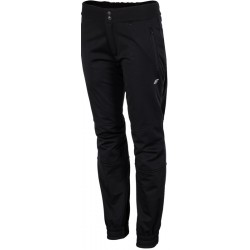 Woman ski pants 4F black softshell