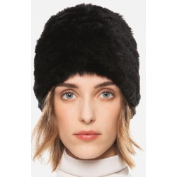 DIAMOND LAPIN BEANIE black