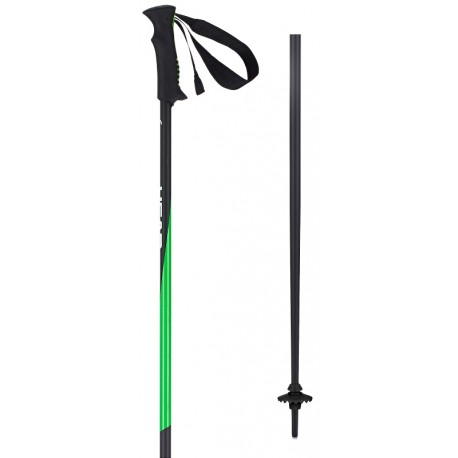 Ski poles HEAD black/neon-green
