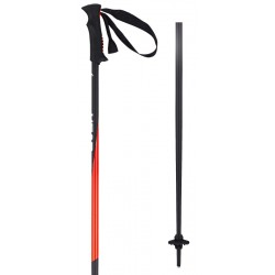 Ski poles HEAD black/neon-red