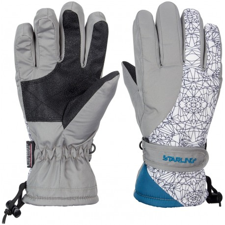 Ski Gloves Jounior Grey/White/Petrol (GWP)