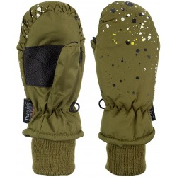 Ski Mittens Jounior Army green/Grey (LEG)