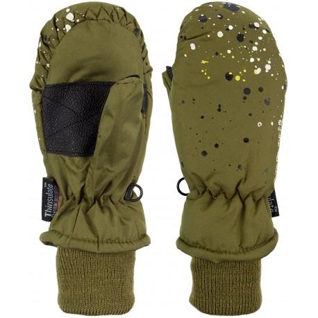 Ski Mittens Jounior Army green/Grey (LEG)