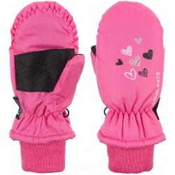 Ski Mittens Jounior Pink/Grey (ROG)