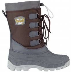 Apre ski boots brown/anthracite/ocher yellow