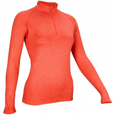 Sports Shirt Long Sleeve Women coral melange/white/silver