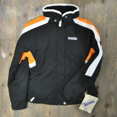 Jacket blk/wh/orange TSUNAMI