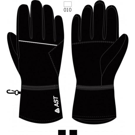 Men's Ski Gloves ASTROLABIO Black/White