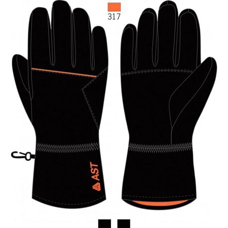 Men's Ski Gloves ASTROLABIO Black/Orange
