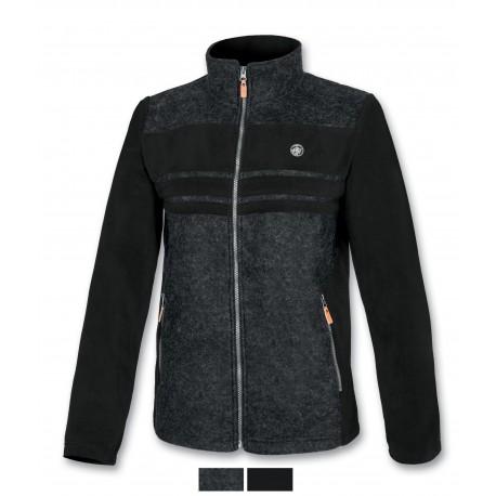Men fleece sweater ASTROLABIO blk