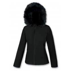Women's padded jacket softshell ASTROLABIO blk