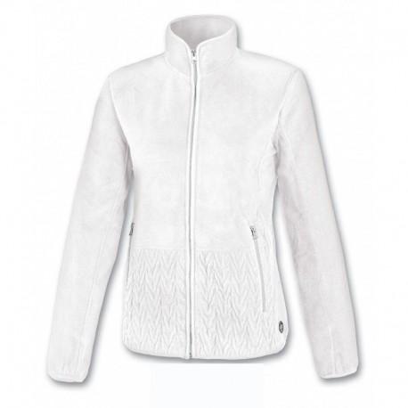 Women fleece ASTROLABIO white