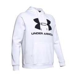 Under Armour Rival Fleece Logo White
