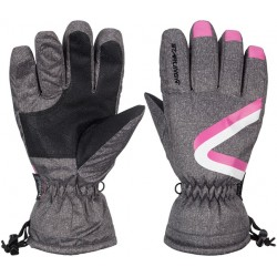 Ski Gloves jounior anthracite/pink