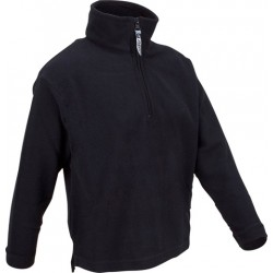 Ski pullover micro fleece navy blue