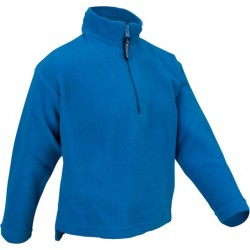 Ski pullover micro fleece blue