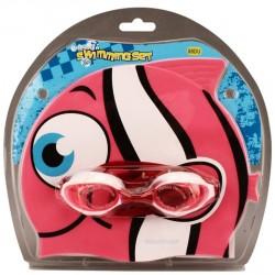 Σκουφάκι κολύμβησης με γυαλιά κολύμβησης