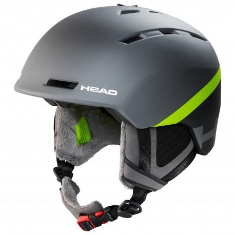HEAD Ski Helmet VARIUS grey/lime (2020)