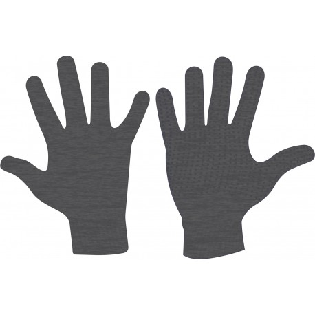 Gloves Knitted athracite Avento