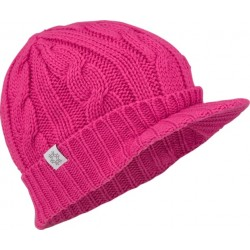 Cap with peak knitted women pink